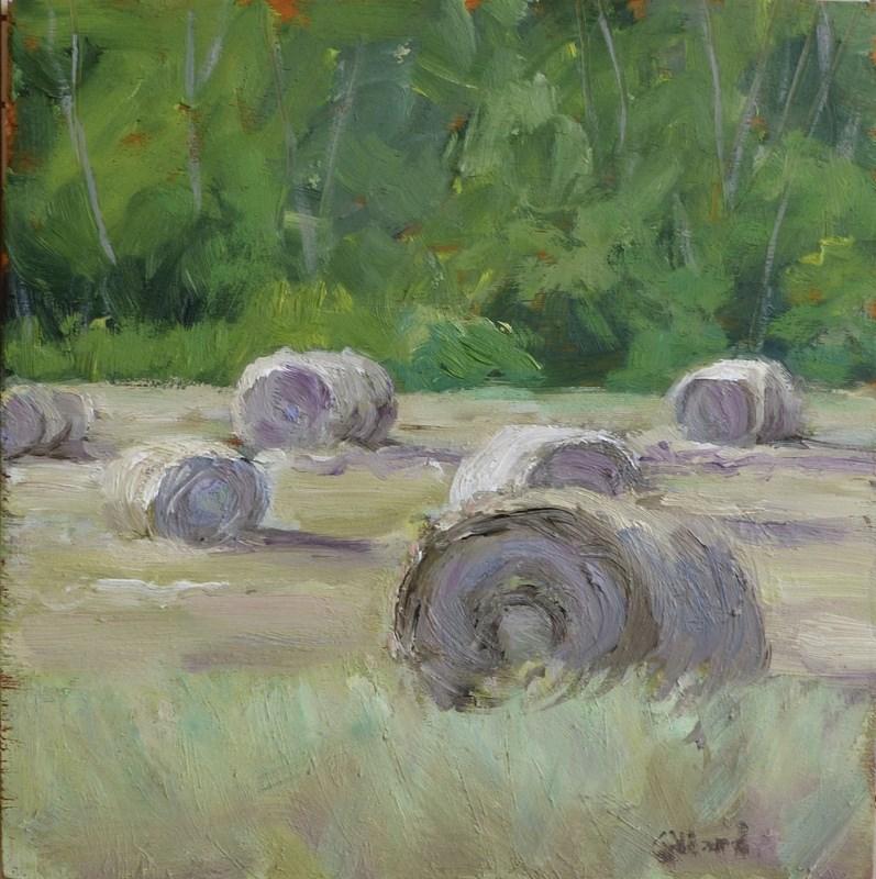 """""""Make Hay While the Sun Shines"""" original fine art by Shari Goddard Shambaugh"""
