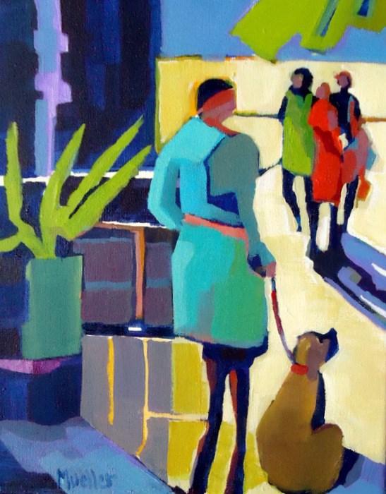 """Good Boy"" original fine art by Laurie Mueller"