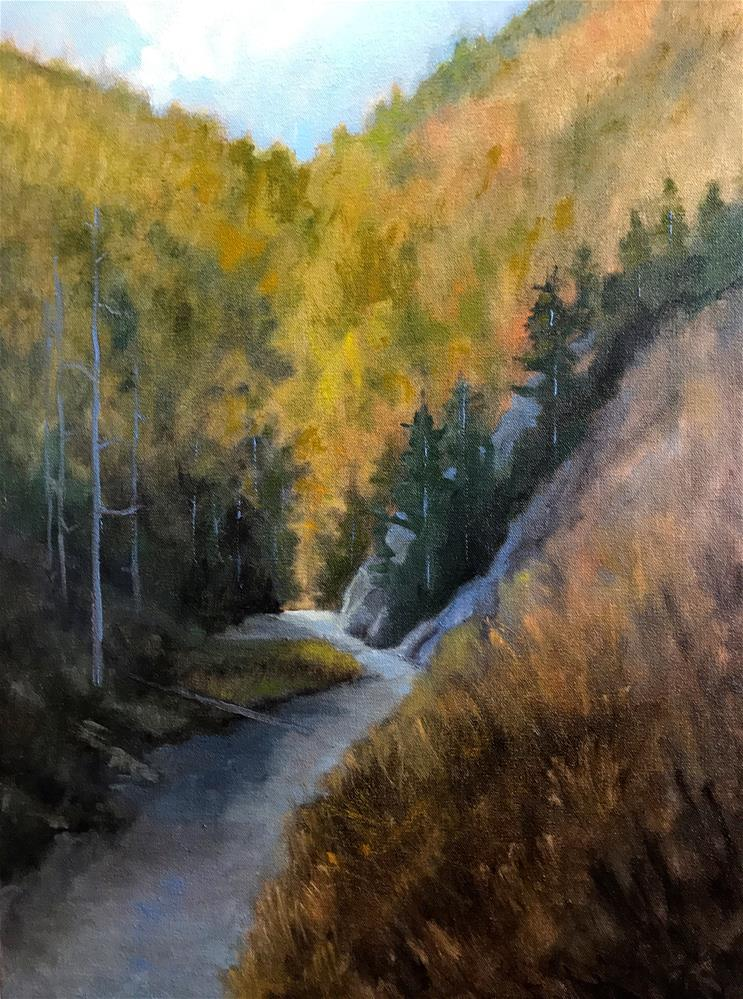 """mountain stream"" original fine art by Betty Argiros"