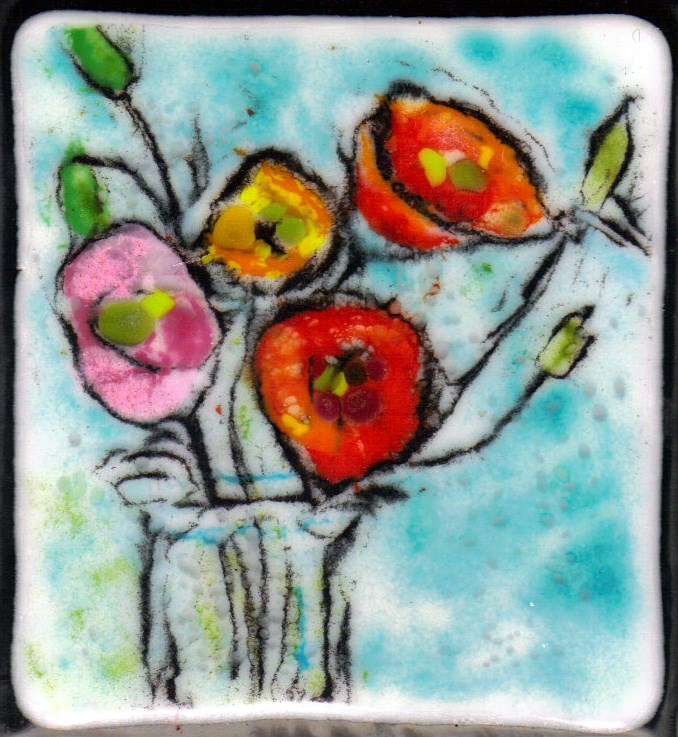 """Vase of Poppies"" original fine art by Kristen Dukat"