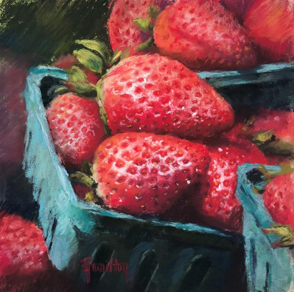 """Berrylicious"" original fine art by Pamela Hamilton"