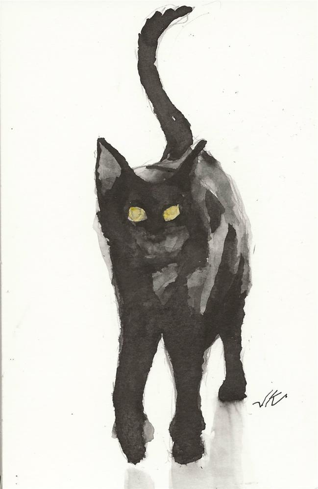 """Daily Cat 76"" original fine art by Jean Krueger"