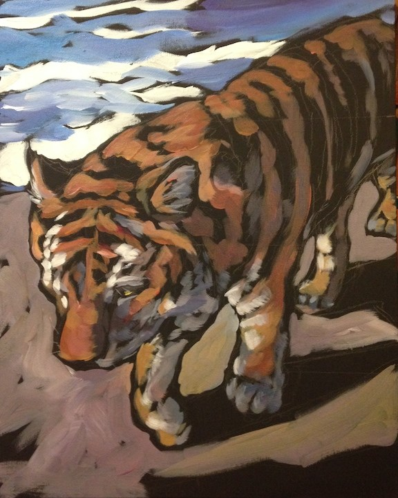 """Shadows and Stripes"" original fine art by Kat Corrigan"