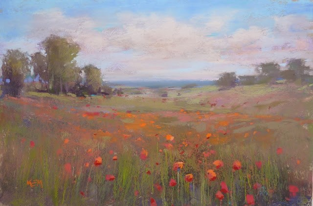 """Poppies for Memorial Day"" original fine art by Karen Margulis"