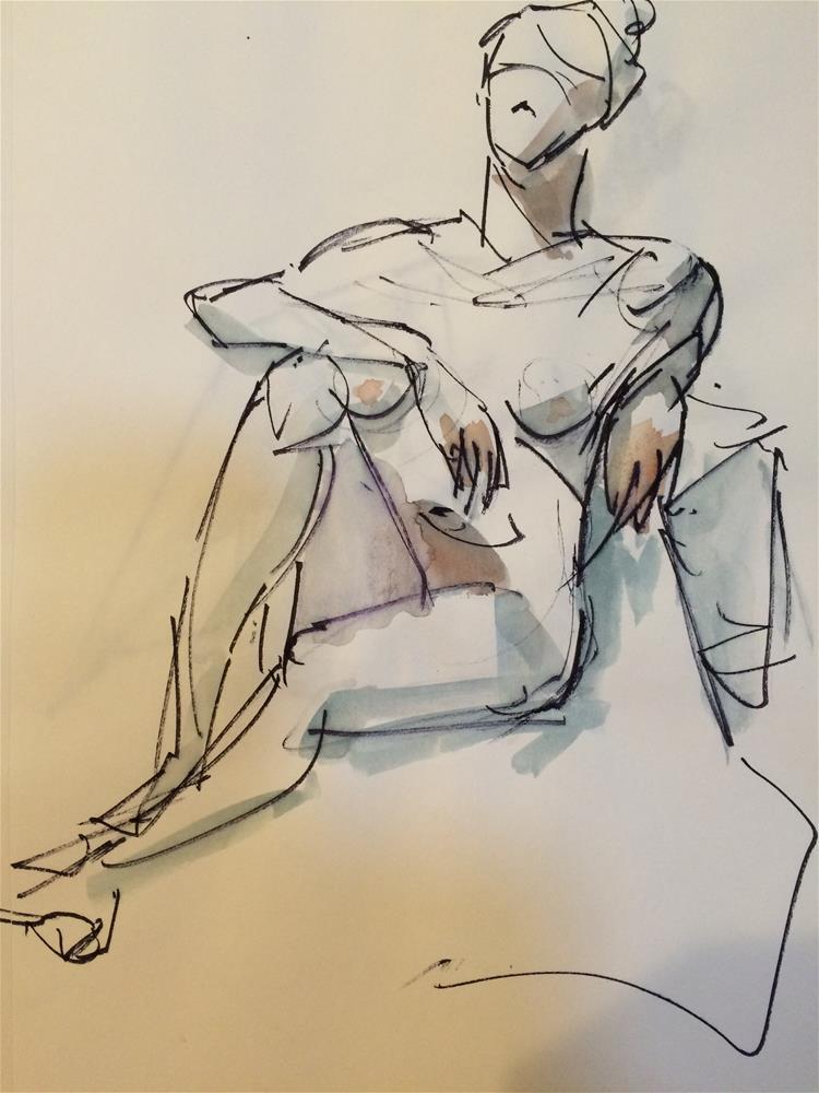 """""""Nude"""" original fine art by Naomi Bautista"""