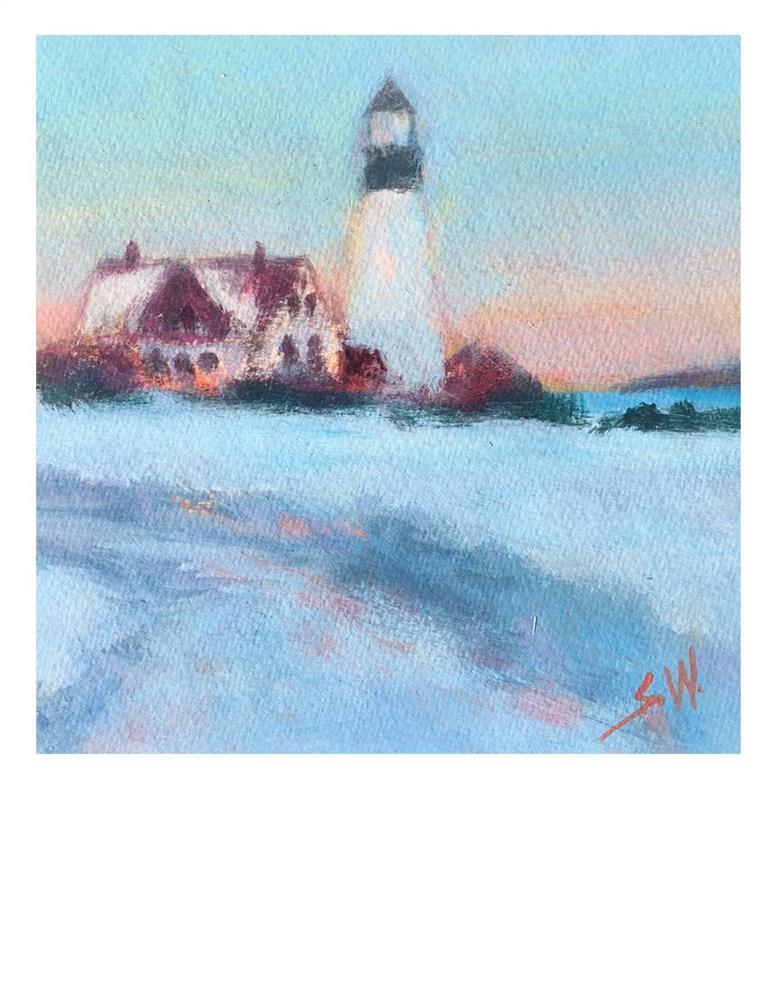 """Lighthouse"" original fine art by Suzanne Woodward"