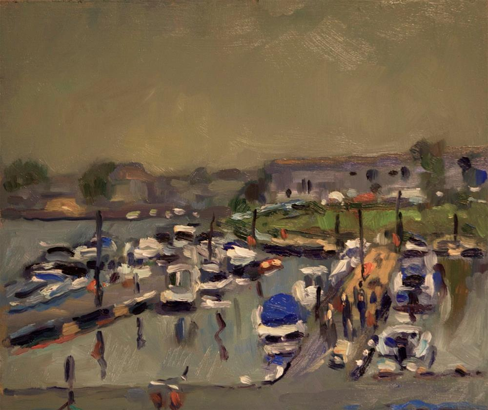 """The Marina"" original fine art by Andre Pallat"