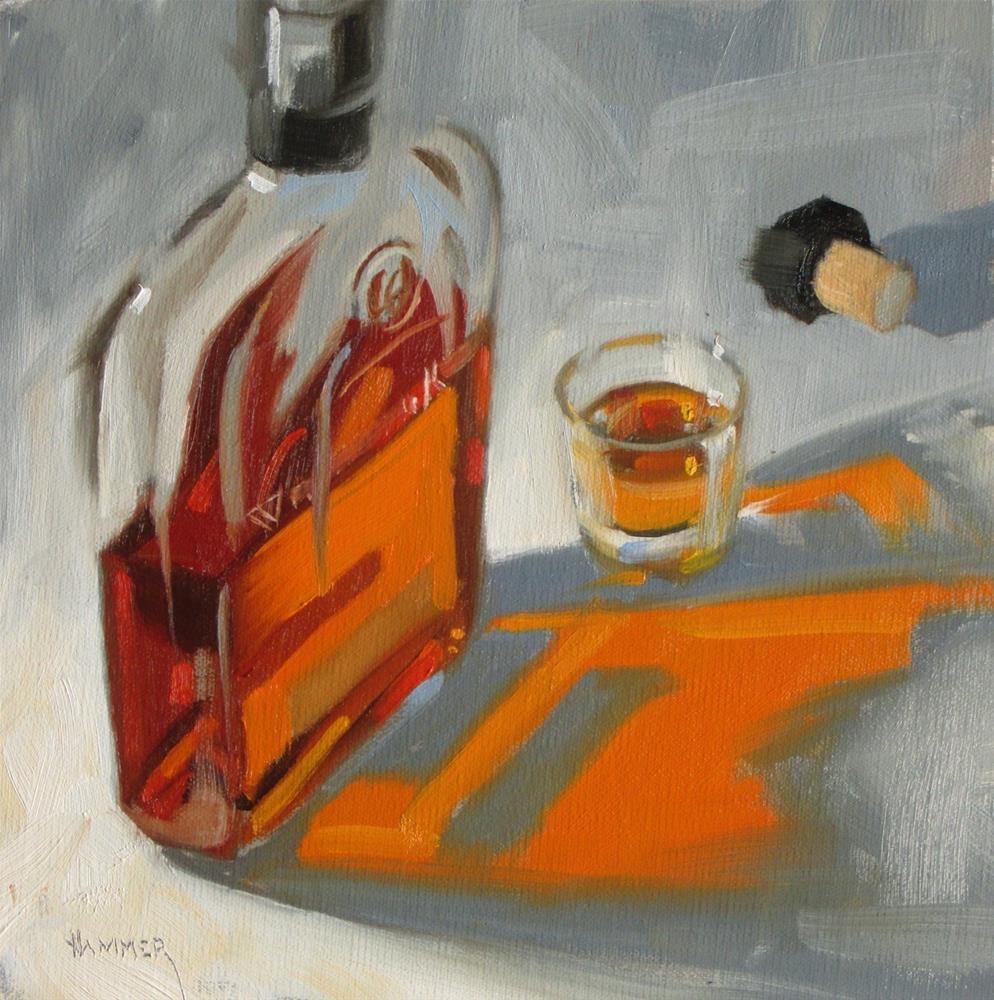 """Woodford neat  8 x 8  oil"" original fine art by Claudia Hammer"