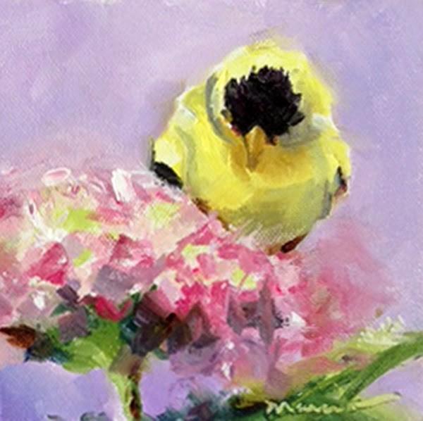 """Goldie"" original fine art by Marcia Hodges"