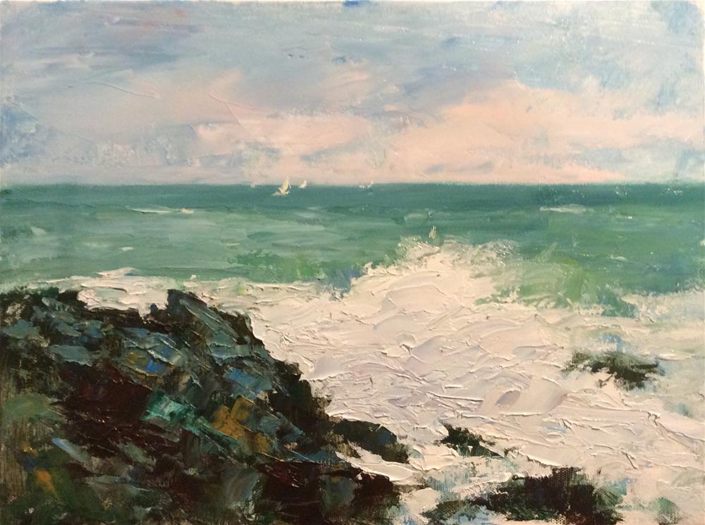 """On The Rocks"" original fine art by John Shave"