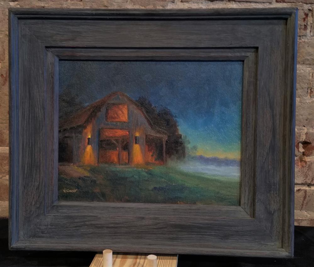 """""""First Light-nocturne en plein air"""" original fine art by Veronica Brown"""