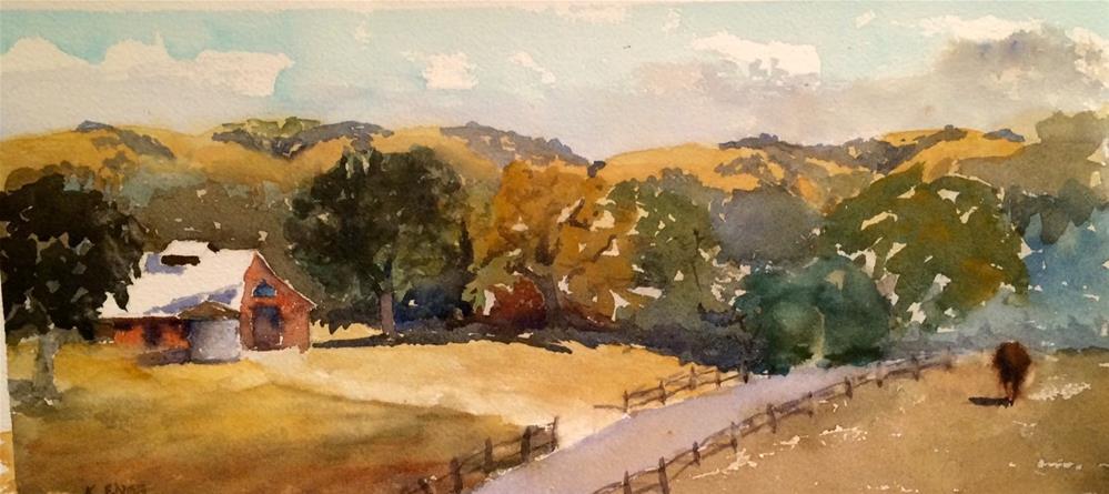 """Central California - Farm in Wine Country"" original fine art by Katharine Engh"
