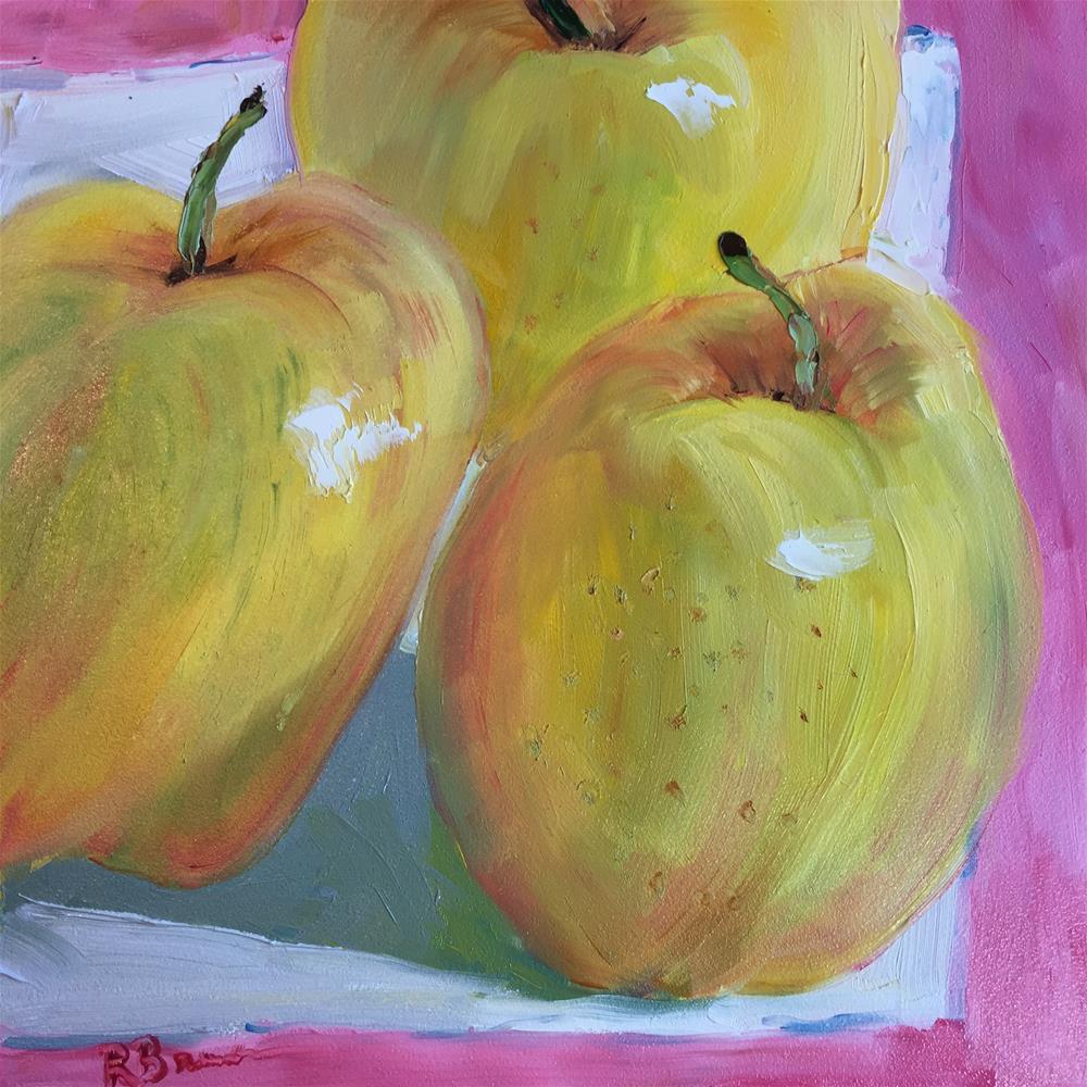 """Golden Delicious"" original fine art by Rose Brenner"