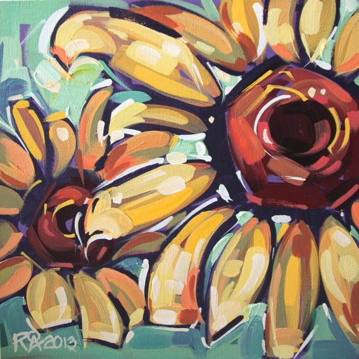 """""""Flower Abstraction 29"""" original fine art by Roger Akesson"""