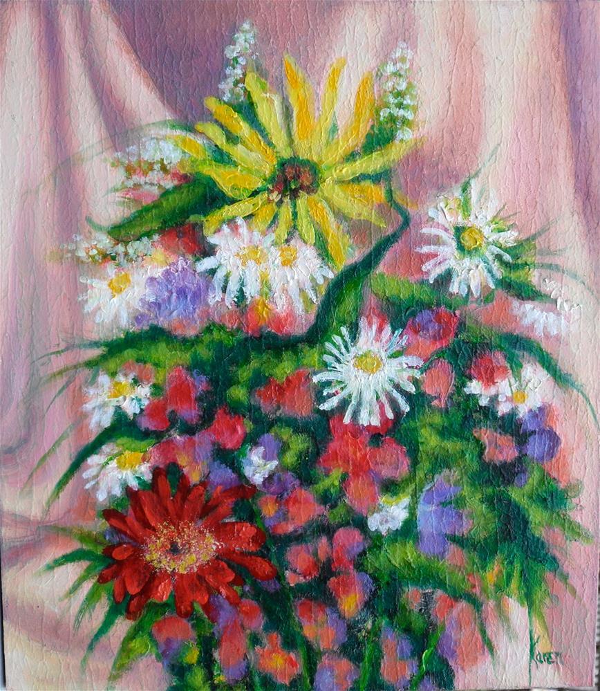 """The Green That Binds"" original fine art by Karen Roncari"