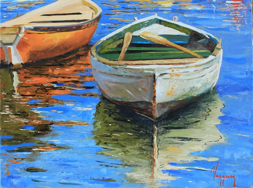 """Two boats "" original fine art by Marco Vazquez"