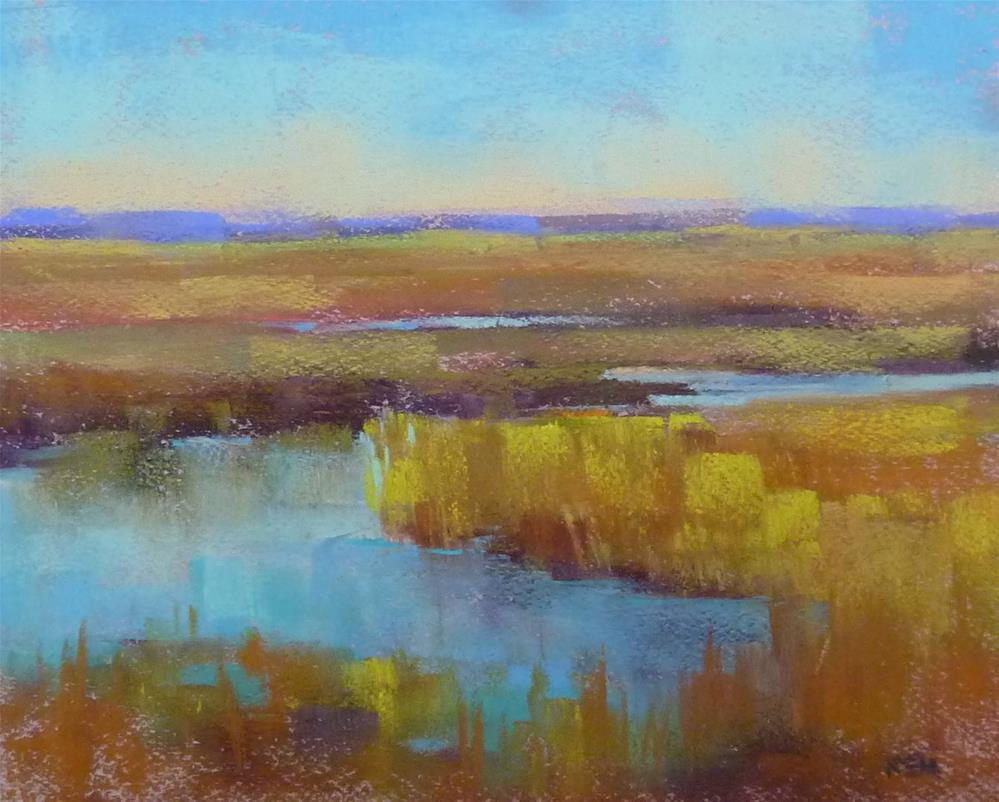 """Across a Golden Marsh"" original fine art by Karen Margulis"
