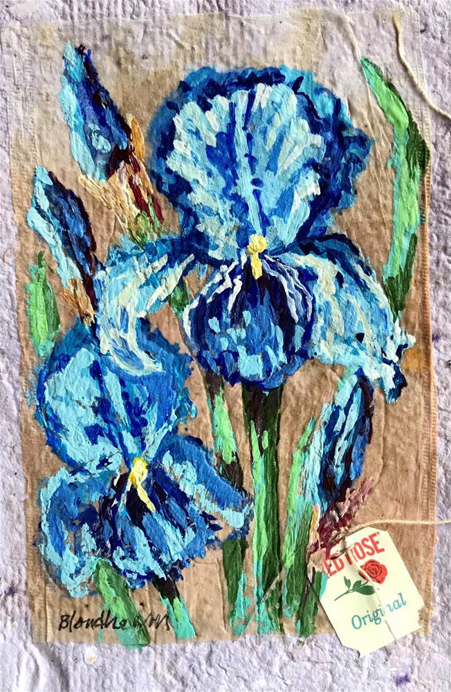 """Iris in Bloom"" original fine art by Linda Blondheim"