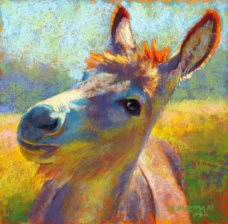 """Don Curious"" original fine art by Rita Kirkman"