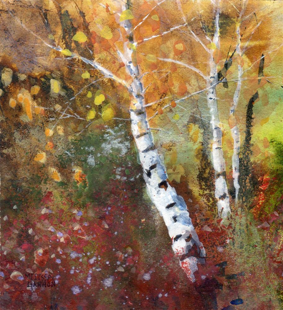 """Dancing Trees"" original fine art by Melissa Gannon"