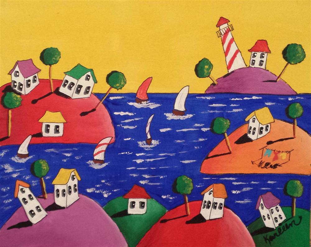 """Life on the Coast"" original fine art by Karleen Kareem"