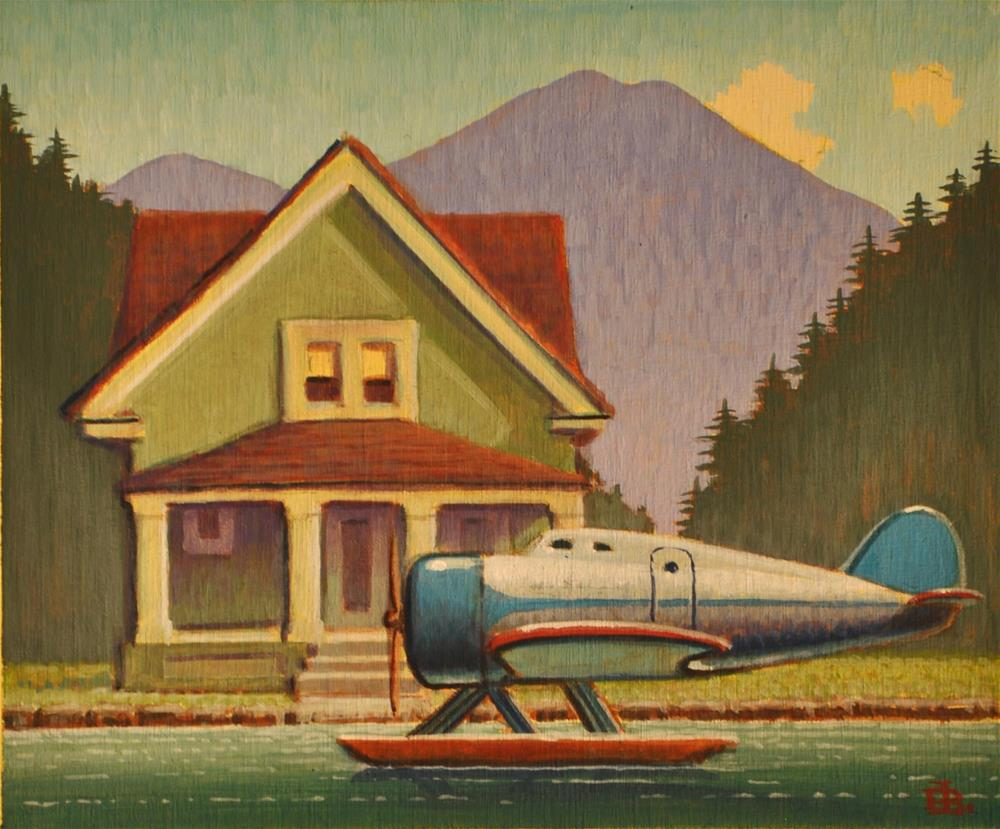 """Summer Cottage"" original fine art by Robert LaDuke"