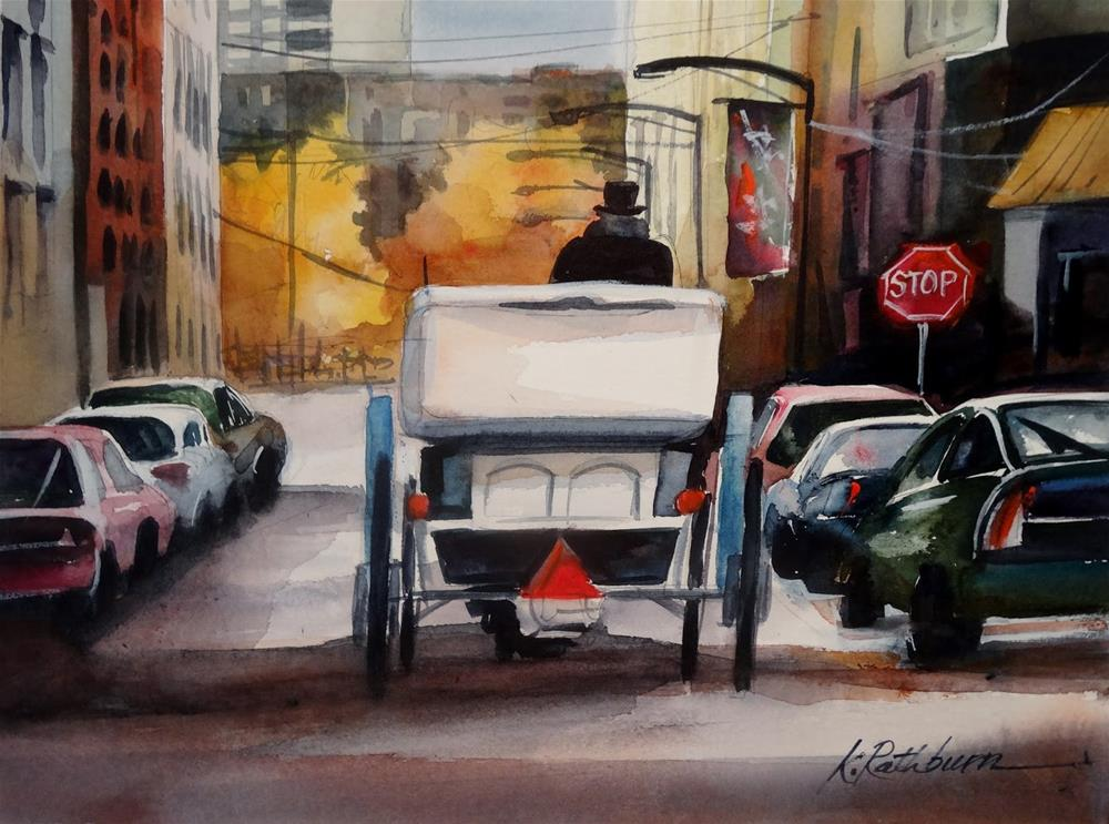 """Buggy Time Chicago - Fall"" original fine art by Kathy Los-Rathburn"