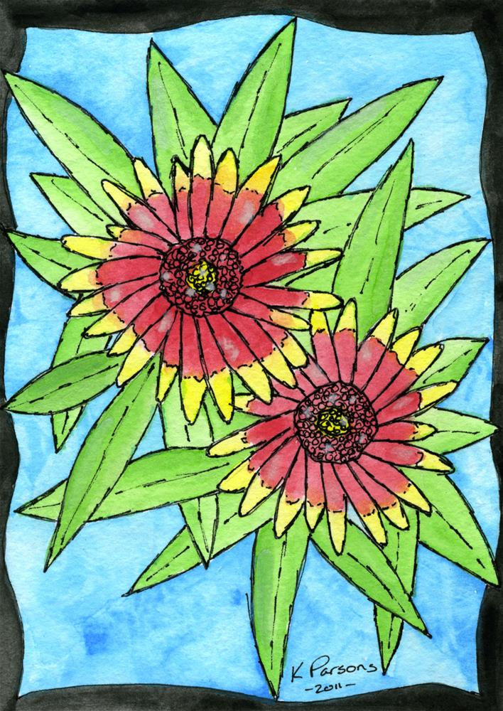 """Indian Blankets"" original fine art by Kali Parsons"