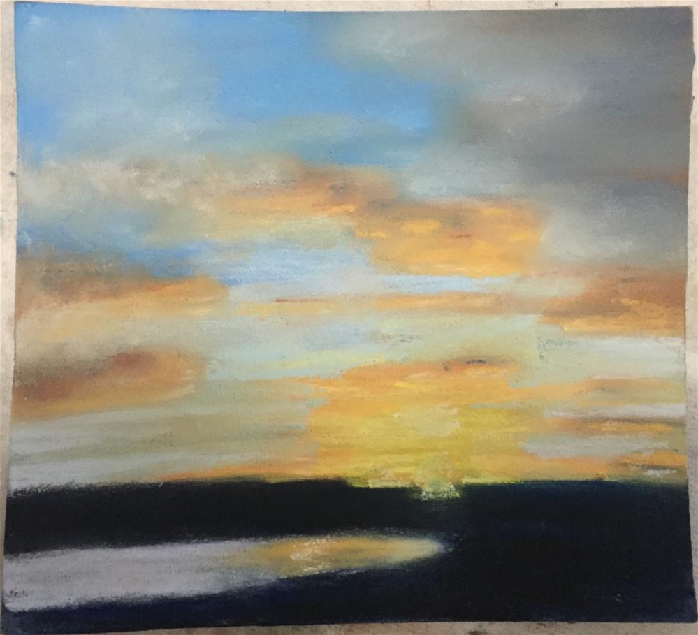 """Rainy Day Sunbreak at Sunset"" original fine art by Julie Ratcliff"