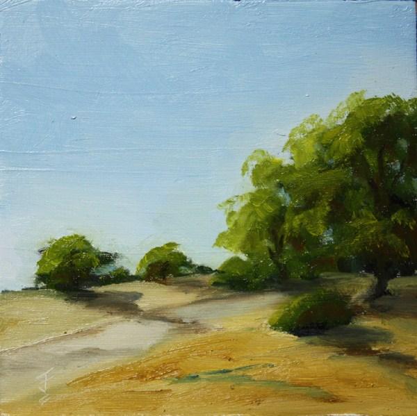 """Roaming Range"" original fine art by Jane Frederick"