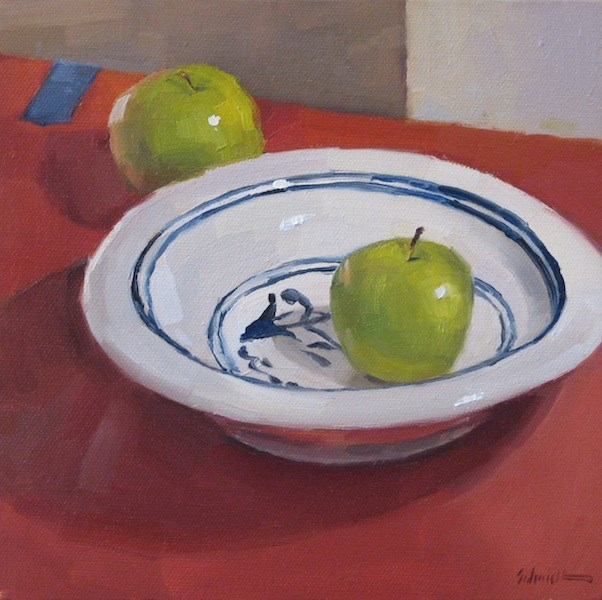 """""""On the Red Table"""" original fine art by Sarah Sedwick"""