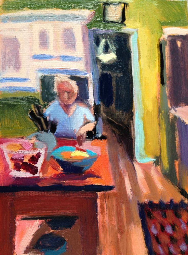 """Dinner Prep"" original fine art by Pamela Hoffmeister"