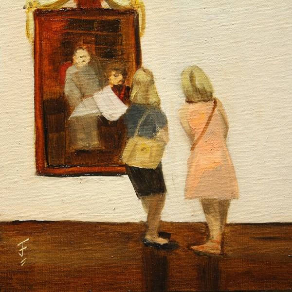 """Friday at the Blanton"" original fine art by Jane Frederick"