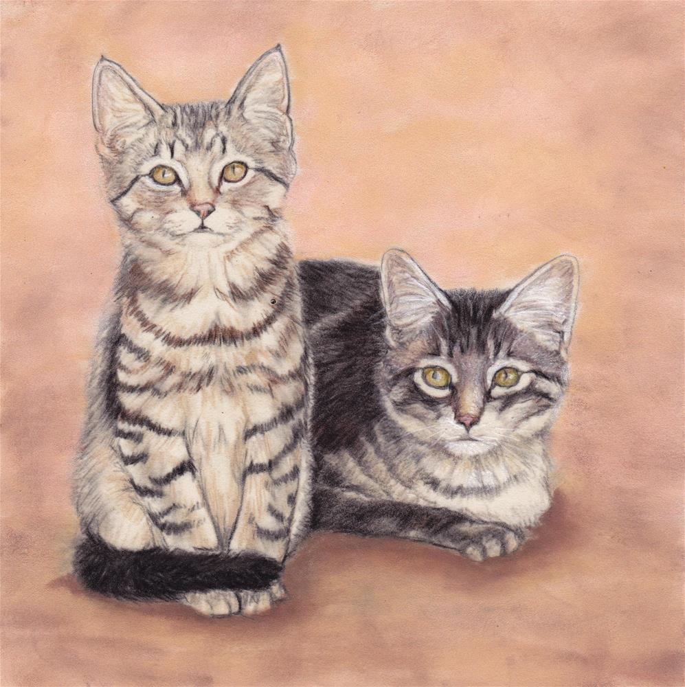"""Barn Kittens"" original fine art by Charlotte Yealey"
