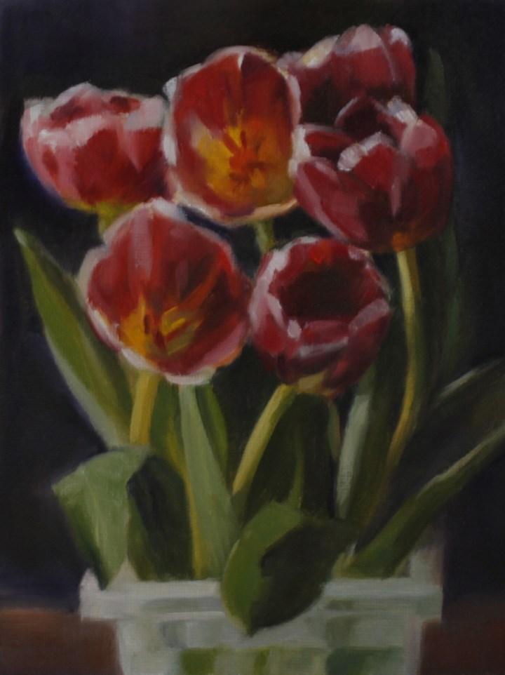 """Tulip Time (framed)"" original fine art by Pamela Poll"