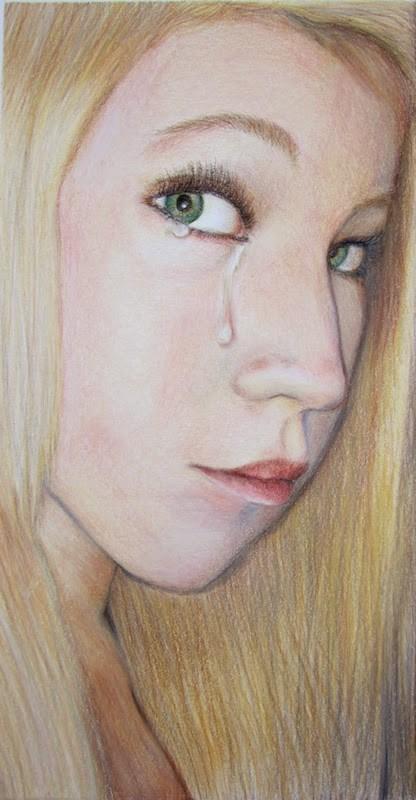 """""""He loves me not"""" original fine art by Karen Stitt"""