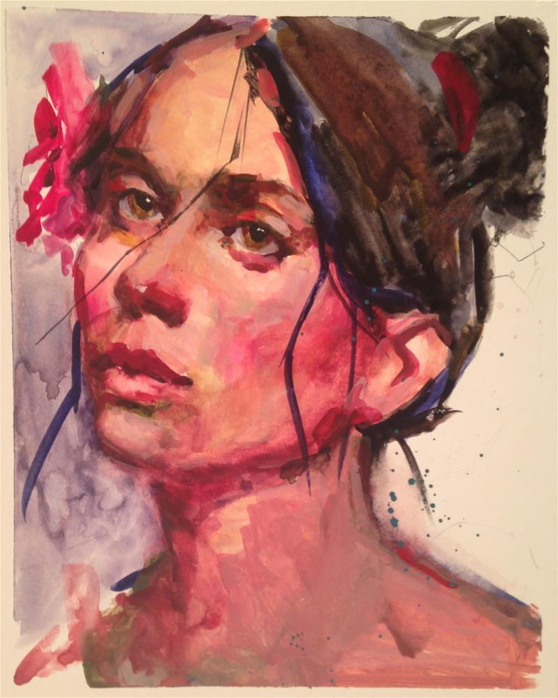 """The Flamenco Dancer"" original fine art by Laurie Johnson Lepkowska"