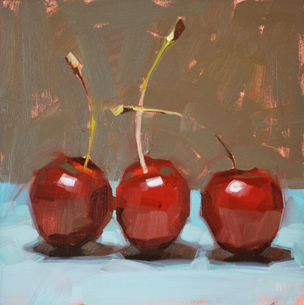 """""""Cheery Cherries"""" original fine art by Carol Marine"""