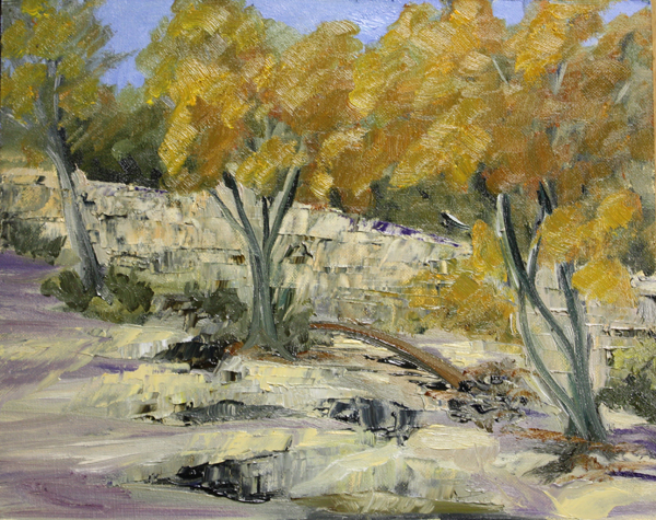 """Fall Colors from the Creek Bed."" original fine art by Jane Frederick"