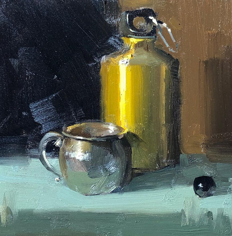 """Green Yellow Scheme 050820"" original fine art by Qiang Huang"