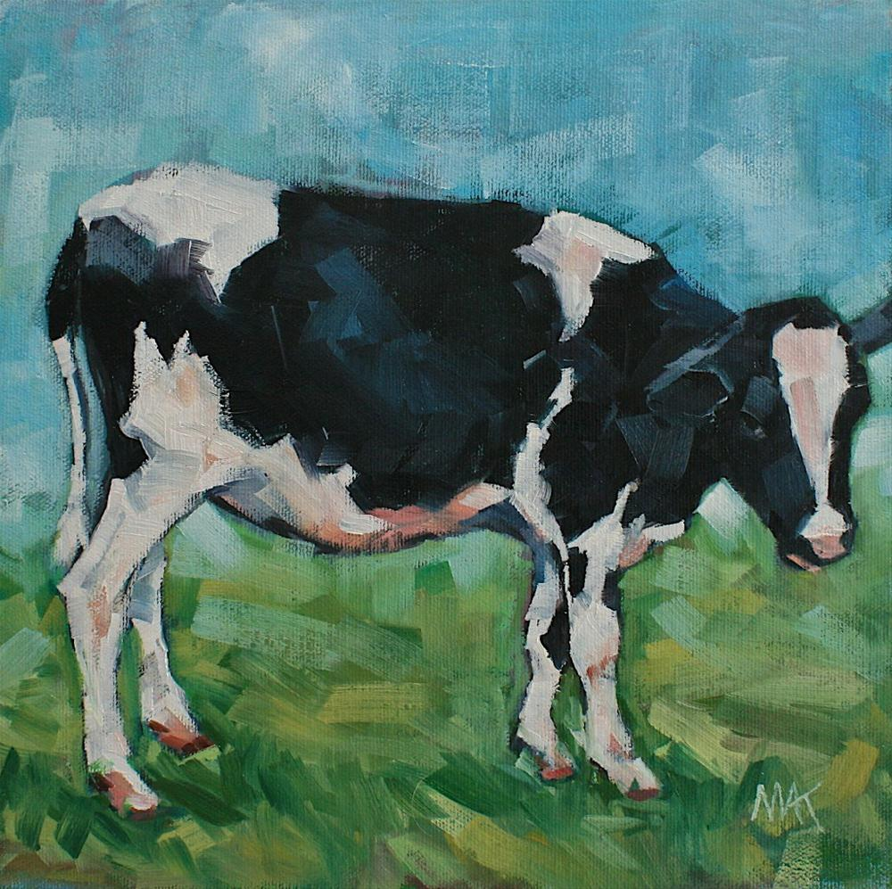 """""""Baby Cow"""" original fine art by Mary Anne Cary"""