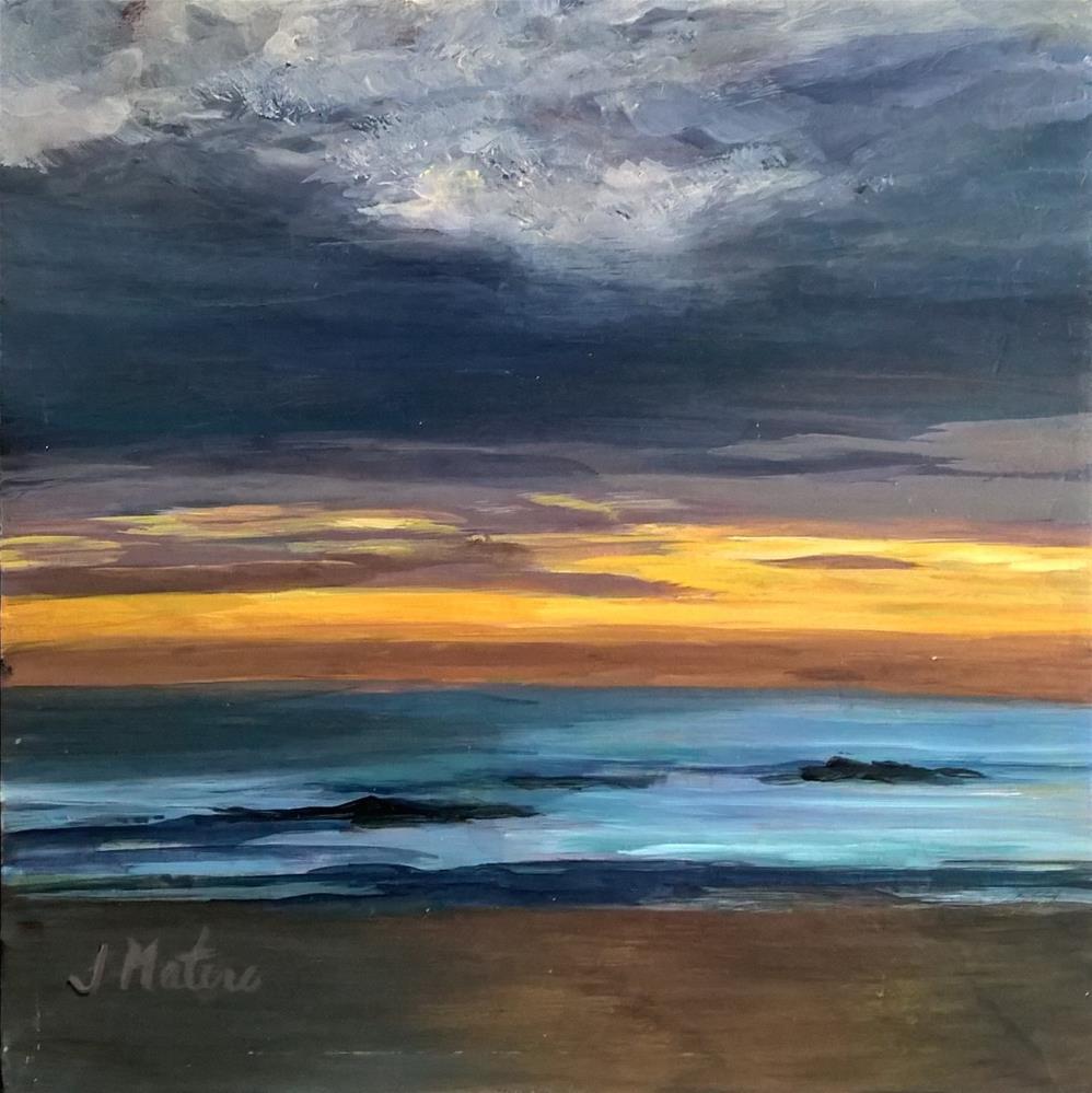 """Sunrise"" original fine art by Joan Matero"