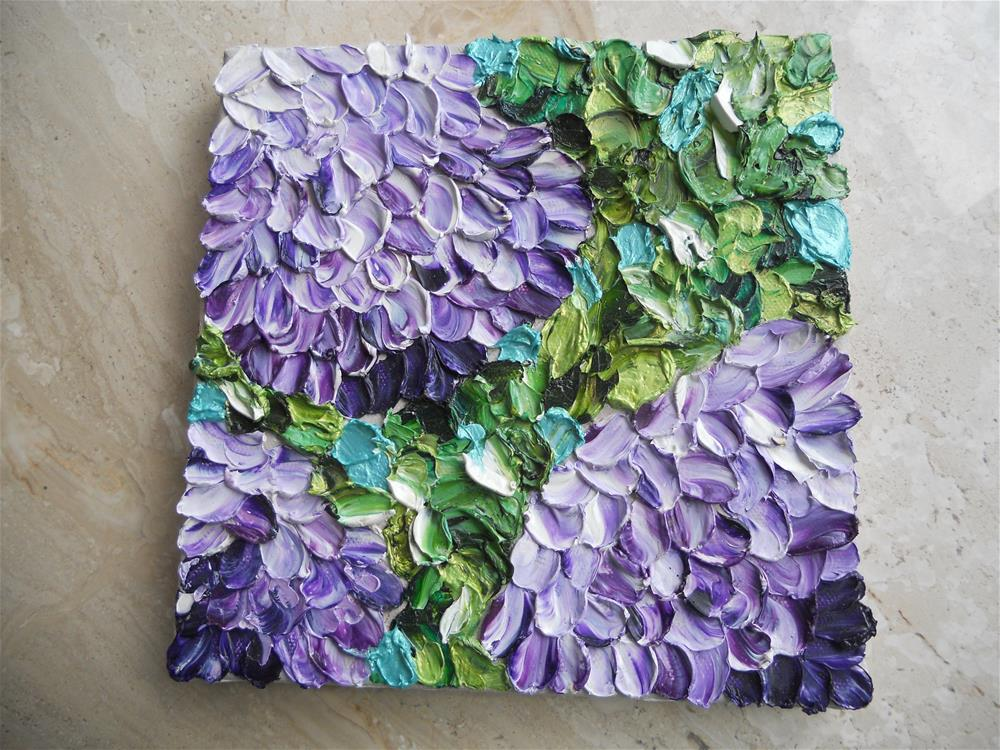 """Impasto Flowers, Hydrangea"" original fine art by Pamela Ross"