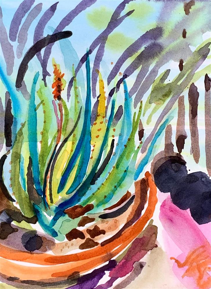 """Aloe Vera"" original fine art by Jean Krueger"