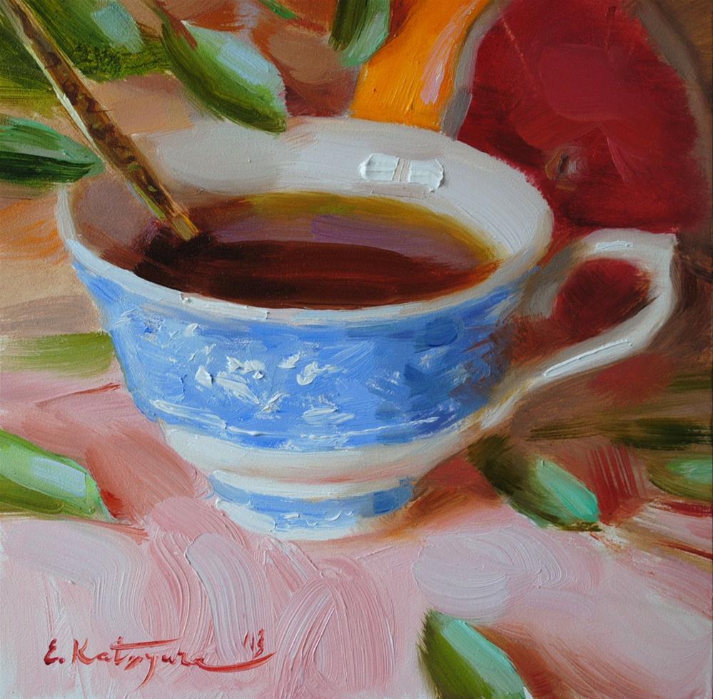 """Cup of Tea"" original fine art by Elena Katsyura"