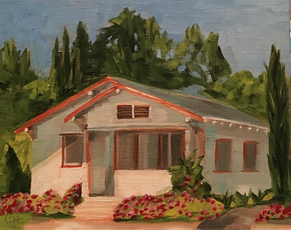 """""""White Cottage"""" original fine art by Claire Henning"""