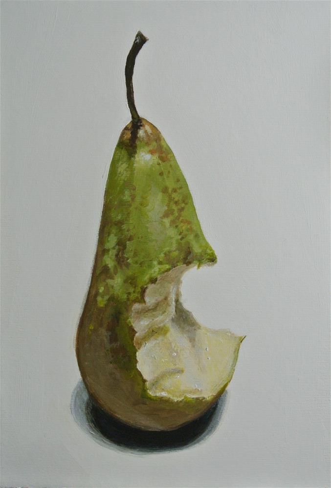 """Bitten Pear"" original fine art by James Coates"