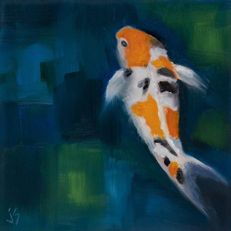 """""""Koi Serenity"""" original fine art by Johnna Schelling"""