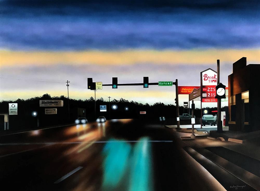 """Boulevard (Late Evening)"" original fine art by Fred Schollmeyer"