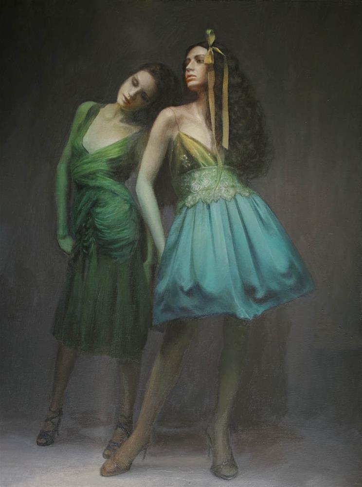 """Model"" original fine art by Yuehua He"